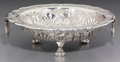 Silver & Vertu:Hollowware, A South American Silver-Plated Footed Bowl, 20th century. Marks: HECHO A MANO, PLATA FINA, 900. 2 inches high x 6-7/8 in...