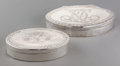 Silver Smalls:Snuff Boxes, Two Swedish Silver Snuff Boxes, circa 1824 & 1848. Marks toboth: AU, (three crowns), S3, H; IMC, (city mark),(crow... (Total: 2 Items)