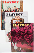 Magazines:Miscellaneous, Playboy Group of 3 (HMH Publishing, 1954-56).... (Total: 3 Items)