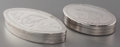 Silver Smalls:Snuff Boxes, Two Swedish Silver Snuff Boxes, Stockholm, Sweden, circa 1810 &1826. Marks to both: EAS, (three crown), (city mark), ...(Total: 2 Items)