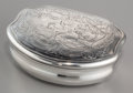 Silver Smalls:Snuff Boxes, An Andreas Öhrman Swedish Partial Gilt Silver Snuff Box, Stockholm,Sweden, circa 1753. Marks: AÖ, (three crowns), (city...