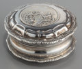 Silver Smalls:Snuff Boxes, A Swedish Partial Gilt Silver Snuff Box, circa 1675-1700. 1-3/4inches diameter (4.4 cm). 1.18 troy ounces. ...