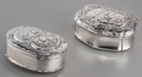 A Swedish and A Continental Silver Snuff Boxes with Allegorical Scenes, circa 1800 Marks: (various marks) 2-5/8