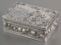 Silver Smalls:Snuff Boxes, A Continental Partial Gilt Silver Snuff Box with London ImportMarks, 19th century. Marks: GB (London import mark),92...
