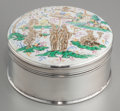 Silver Smalls:Snuff Boxes, An O. Pehr Hallbery Swedish Silver Snuff Box with Inset Gilt andEnameled Porcelain Plaque, Norrkoping, Sweden, circa 1843. ...