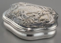 Silver Smalls:Snuff Boxes, A Tons Lund Swedish Partial Gilt Silver Snuff Box, Skara, Sweden,circa 1760. Marks: TL (rubbed), (three crowns), (city ...