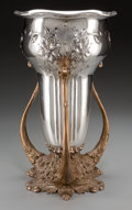 Silver Holloware, American:Loving Cup, A Monumental Mauser Mfg. Co. Art Nouveau Silver and Bronze LovingCup, New York, New York, circa 1887-1903. Marks to vase: ...