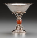 Silver Holloware, Continental:Holloware, A Kay Bojesen Solvsmedie Danish Modern Silver Compote, Copenhagen,Denmark, circa 1930-1940. Marks: 830 S, (logotype), ...