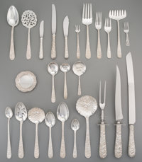 A One Hundred and Fifteen-Piece S. Kirk & Son Repoussé Pattern Flatware Service for Twelve w