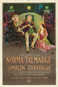 "Movie Posters:Drama, Smilin' Through (First National, 1922). One Sheet (27.5"" X 41"")Trio Style.. ..."