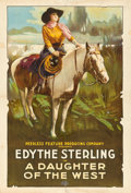 "Movie Posters:Western, A Daughter of the West (Peerless Pictures, Late 1910s). One Sheet(27.5"" X 40.5"").. ..."