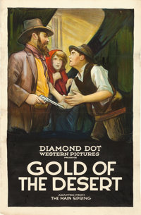 "Gold of the Desert (Diamond Dot, 1923). Trimmed One Sheet (27"" X 41.75"")"
