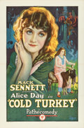 "Movie Posters:Comedy, Cold Turkey (Pathé, 1925). One Sheet (27"" X 41"").. ..."
