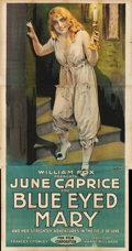 "Movie Posters:Drama, Blue-Eyed Mary (Fox, 1918). Three Sheet (42"" X 82"") June CapriceStyle.. ..."