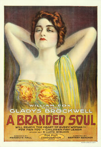 "A Branded Soul (Fox, 1917). One Sheet (28"" X 41"") Portrait Style"