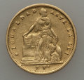 Chile, Chile: Republic gold 2 Pesos 1857 Fine - Cleaned,...