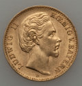 German States:Bavaria, German States: Bavaria. Ludwig II gold 10 Mark 1876-D XF/AU,...