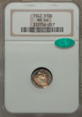 Seated Half Dimes: , 1842 H10C MS64 NGC. CAC. NGC Census: (46/26). PCGS Population: (37/15). CDN: $490 Whsle. Bid for problem-free NGC/PCGS MS64...
