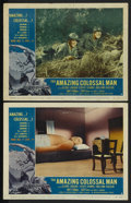 "Movie Posters:Science Fiction, The Amazing Colossal Man (American International, 1957). LobbyCards (2) (11"" X 14""). Science Fiction. ... (Total: 2 Items)"