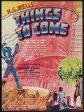 "Movie Posters:Science Fiction, Things to Come (United Artists, 1936). Herald (8.75"" X 11.75"").Science Fiction. ..."