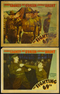 "Movie Posters:War, The Fighting 69th (Warner Brothers, 1940). Lobby Cards (2) (11"" X14""). War. ... (Total: 2 Items)"