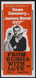 "Movie Posters:James Bond, From Russia with Love (United Artists, R-1970s). Australian Daybill(13.5"" X 30""). James Bond. ..."