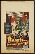 """Movie Posters:Science Fiction, The Beast From 20,000 Fathoms (Warner Brothers, 1953). Window Card(14"""" X 22""""). Science Fiction. ..."""