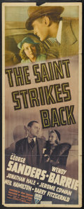 "Movie Posters:Mystery, The Saint Strikes Back (RKO, 1939). Insert (14"" X 36""). Mystery...."