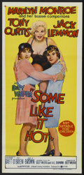 """Movie Posters:Comedy, Some Like It Hot (United Artists, 1959). Australian Daybill (14"""" X30""""). Comedy. ..."""