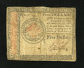 Colonial Notes:Continental Congress Issues, Continental Currency January 14, 1779 $5 Fine....
