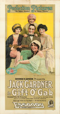 "Movie Posters:Comedy, Gift O' Gab (Essanay, 1917). Three Sheet (42"" X 82"").. ..."