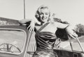 Photographs:Gelatin Silver, Frank Worth (American, 1923-2000). Marilyn Monroe, on set of Howto Marry a Millionaire, 1953. Gelatin silver, printed l...