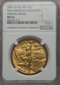 So-Called Dollars, 1901 Pan-American Exposition Official Medal MS66 NGC. HK-289, R.3. Brass....