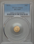 California Fractional Gold , 1870 50C Goofy Head Round 50 Cents, BG-1047, High R.4, MS63 PCGS.PCGS Population: (9/2). NGC Census: (7/2). . From Th...