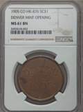 So-Called Dollars, 1905 Denver Mint Opening MS61 Brown NGC. HK-876, R.6. Bronze....