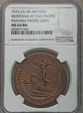So-Called Dollars, 1915 Montana at Panama-Pacific Exposition MS64 Brown NGC. HK-409, R.4. Bronze....