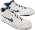 Basketball Collectibles:Others, Circa 1993-94 Chris Webber Game Worn, Signed Golden State Warriors Rookie Shoes....