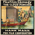 "Movie Posters:Comedy, The Cloud Puncher (Fox, 1917). Six Sheet (82"" X 82"").. ..."