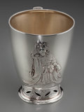 Silver Holloware, American:Cups, A Tiffany & Co. Japanesque Partial Gilt Silver Cup, New York,New York, circa 1873-1891. Marks: TIFFANY & CO, 2837,STERLI...