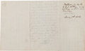 Autographs:Military Figures, Confederate General William H. Whiting Autograph Note Signed Written During the Battle of Seven Pines ...