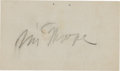 Football Collectibles:Others, Circa 1950 Jim Thorpe Signed Business Card. ...
