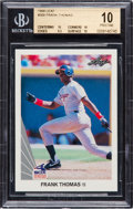 Baseball Cards:Singles (1970-Now), 1990 Leaf Frank Thomas #300 Beckett Pristine 10. ...