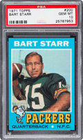 Football Cards:Singles (1970-Now), 1971 Topps Bart Starr #200 PSA Gem Mint 10 - The Ultimate PSAExample, Pop One!...