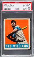 Baseball Cards:Singles (1940-1949), 1948 Leaf Ted Williams #76 PSA EX-MT+ 6.5....