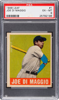 Baseball Cards:Singles (1940-1949), 1948 Leaf Joe DiMaggio #1 PSA EX-MT 6....
