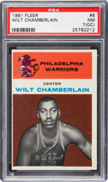 Basketball Cards:Singles (Pre-1970), 1961 Fleer Wilt Chamberlain #8 PSA NM 7 (OC)....