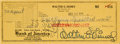 Miscellaneous Collectibles:General, 1954 Walt Disney Signed Check.. ...