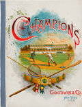 "Baseball Cards:Other, 1888 A36 (N162) Goodwin & Co. ""Champions"" Album - One of theFinest Examples Known! ..."