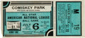 Baseball Collectibles:Tickets, 1933 All-Star Game Ticket Stub....