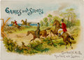 "Non-Sport Cards:General, 1889 A38 (N165) Goodwin ""Games and Sports"" Album - One of the FinerOffered Examples! ..."